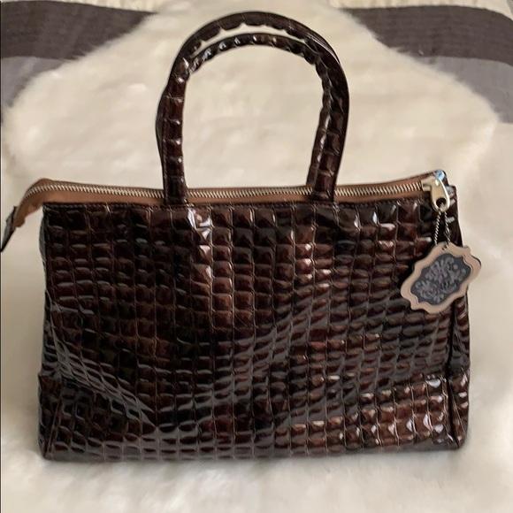 Coco + Carmen Handbags - Shiny Brown Textured Handbag NWT